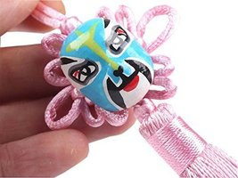 PANDA SUPERSTORE 2 Pieces Creative Car Ornaments Chinese Knot Pendant, Pink(Rand