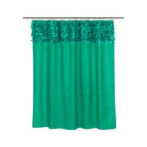 Jasmine Fabric Shower Curtain in Emerald-1301-FSCL-JAS-90 - $37.65