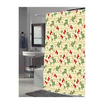 Merry Christmas Fabric Shower Curtain-1301-FSC-MER - $30.13