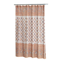 Carnation Home Fashions South Beach Fabric Shower Curtain in Ivory 1301-... - $30.69