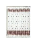 Carnation Home Fashions Windsor Fabric Shower Curtain in Brown 1301-FSC-... - $30.69