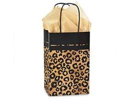 Tkdream Leopard Safari Print Kraft Shopping Gift Paper Bag Choose Size &... - $21.78