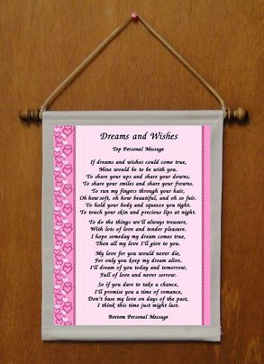 Dreams and Wishes - Personalized Wall Hanging (435-1)