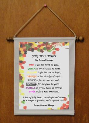 Jelly Bean Prayer - Personalized Wall Hanging (436-1)