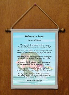 Fisherman's Prayer - Personalized Wall Hanging (440-1)