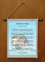 Fisherman's Prayer - Personalized Wall Hanging (440-1) - $19.99