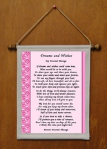 Dreams and Wishes - Personalized Wall Hanging (435-1) - $19.99