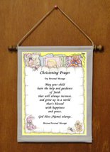 Christening Prayer - Personalized Wall Hanging (449-2) - $19.99