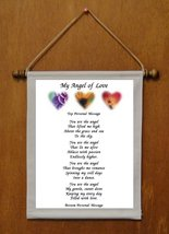 My Angel of Love - Personalized Wall Hanging (612-1) - $19.99