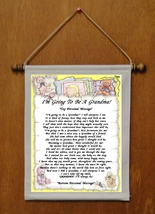 I'm Going To Be A Grandma! - Personalized Wall Hanging (663-1) - $19.99