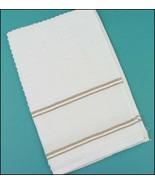 Tan Nancy Kitchen Towel 15x24 14ct cross stitch... - $7.65