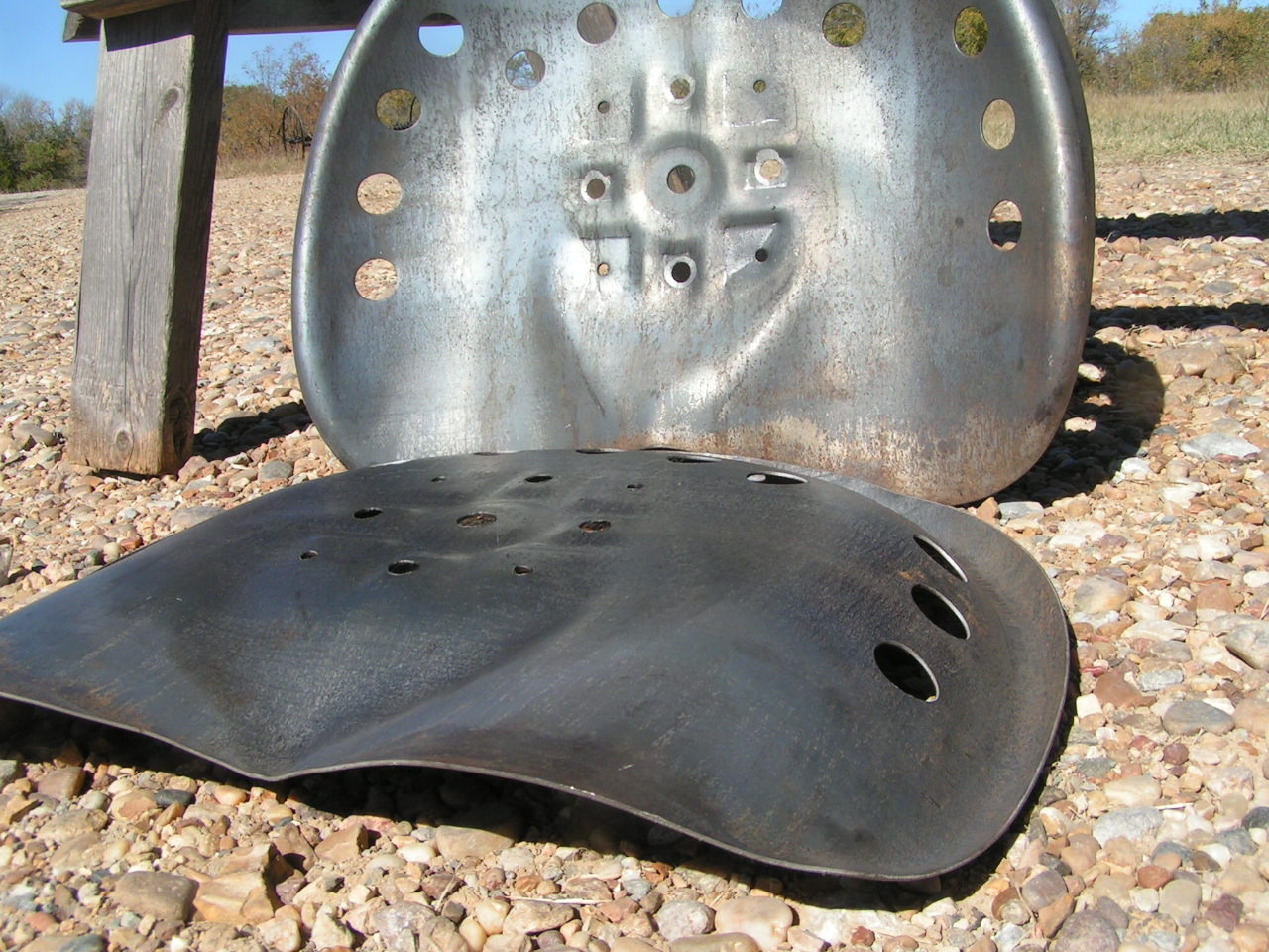 Tractor Seat Two : Steel tractor metal farm machinery stool seat s new old