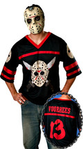 Adult Halloween Friday the 13th Jason Voorhees Jersey and Mask Kit - £37.62 GBP