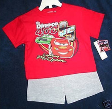 BOYS 12, 18 OR 24 MONTHS -Disney Pixar Cars Lightning McQueen SHIRT & SH... - $8.91