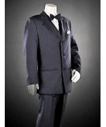 BOYS 12 -  Arrow - Charcoal Gray Pinstripe 2-pc JACKET &  DRESS PANTS / ... - $35.28
