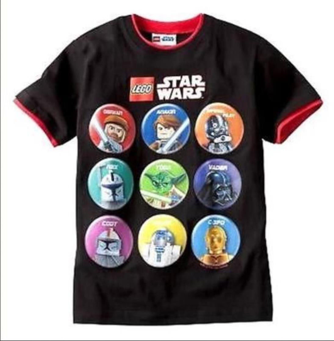 BOYS 10/12, 14/16 OR 18 - Lego Star Wars - Character Circles Cameos T-SHIRT