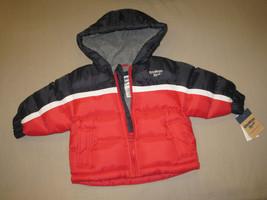 Boys 12 Months   Oshkosh B'gosh   Red & Navy Hooded Winter Jacket - $25.00