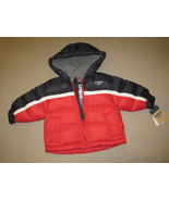 BOYS 12 MONTHS - Oshkosh B'gosh - Red & Navy Hooded WINTER JACKET - $19.24