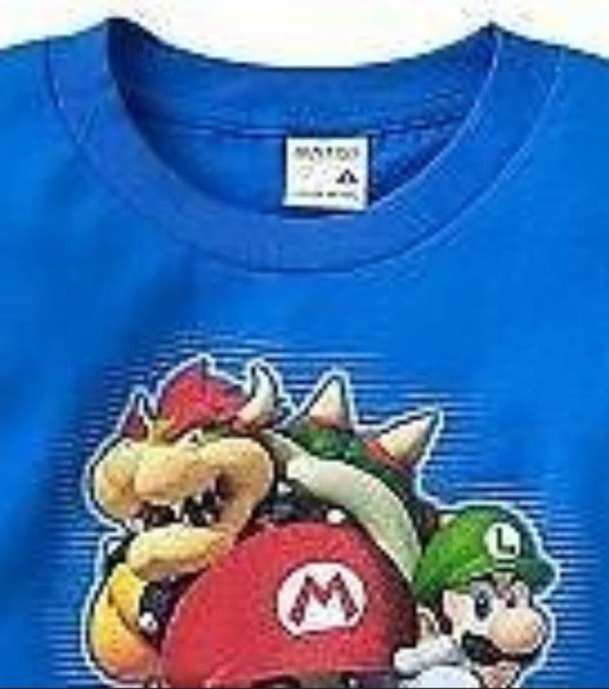 BOYS 14 / 16 - Nintendo - Super Mario, Luigi, Bowser & Toad Blue T-SHIRT