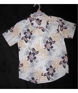 BOYS 14 / 16 - Faded Glory - Blue Tropical Print - HAWAIIAN SHIRT - $4.50