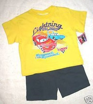 BOYS 18 or 24 MONTHS - Disney Pixar Cars -  I am Speed SHIRT & SHORTS SET - $8.91
