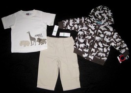 BOYS 18 OR 24 MONTHS - Baby Q - Jungle King JACKET, SHIRT & PANTS SET - $16.04