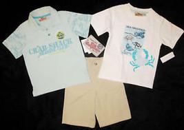 BOYS 4, 5, 6 OR 7 - Kids Headquarters - Crab Shack 3-pc SHORTS SET - $19.80