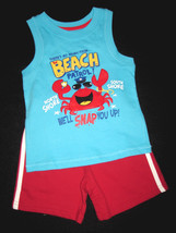 BOYS 2T - Jumping Beans - Beach Patrol Crab Knit SHIRT & SHORTS PLAYSET - $11.00