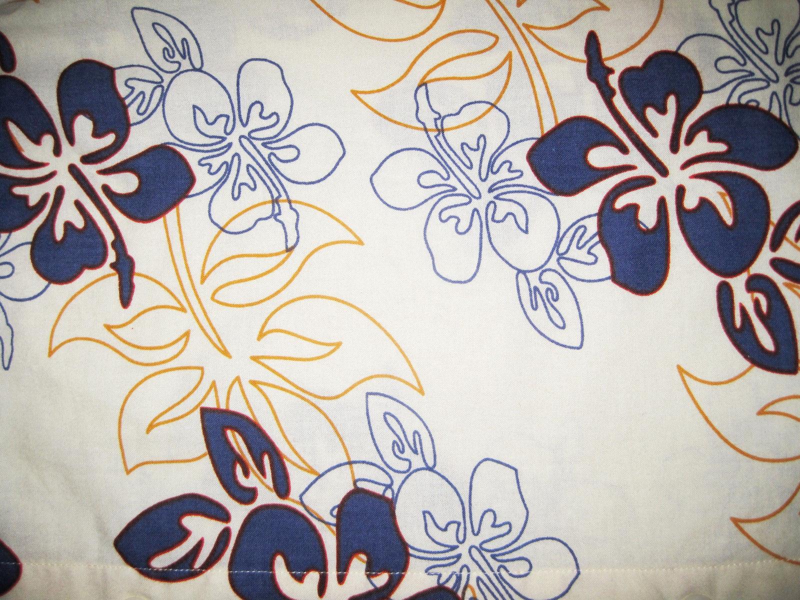 BOYS 14 / 16 - Faded Glory - Blue Tropical Print - HAWAIIAN SHIRT