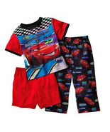 BOYS 3T - Disney Pixar Cars - Lightning McQueen 3-pc Set -  PJs PAJAMAS - $15.84