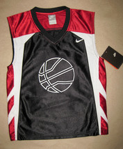 BOYS 5 - Nike - Black-Wine-White BASKETBALL SPORTS JERSEY - $14.44