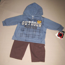 BOYS 6-9 MONTHS - Baby Q - Outdoor Trail Guide HOODED FLEECE PLAYSET - $9.00