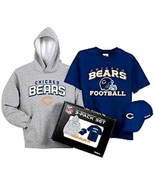 BOYS OR GIRLS 10 / 12 - Reebok - NFL Chicago Bears HOODY, HAT & T-SHIRT ... - $30.69