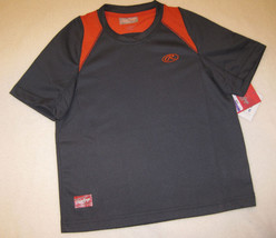 BOYS SMALL OR MEDIUM - Rawlings -  Gray & Orange SPORTS JERSEY - $7.57