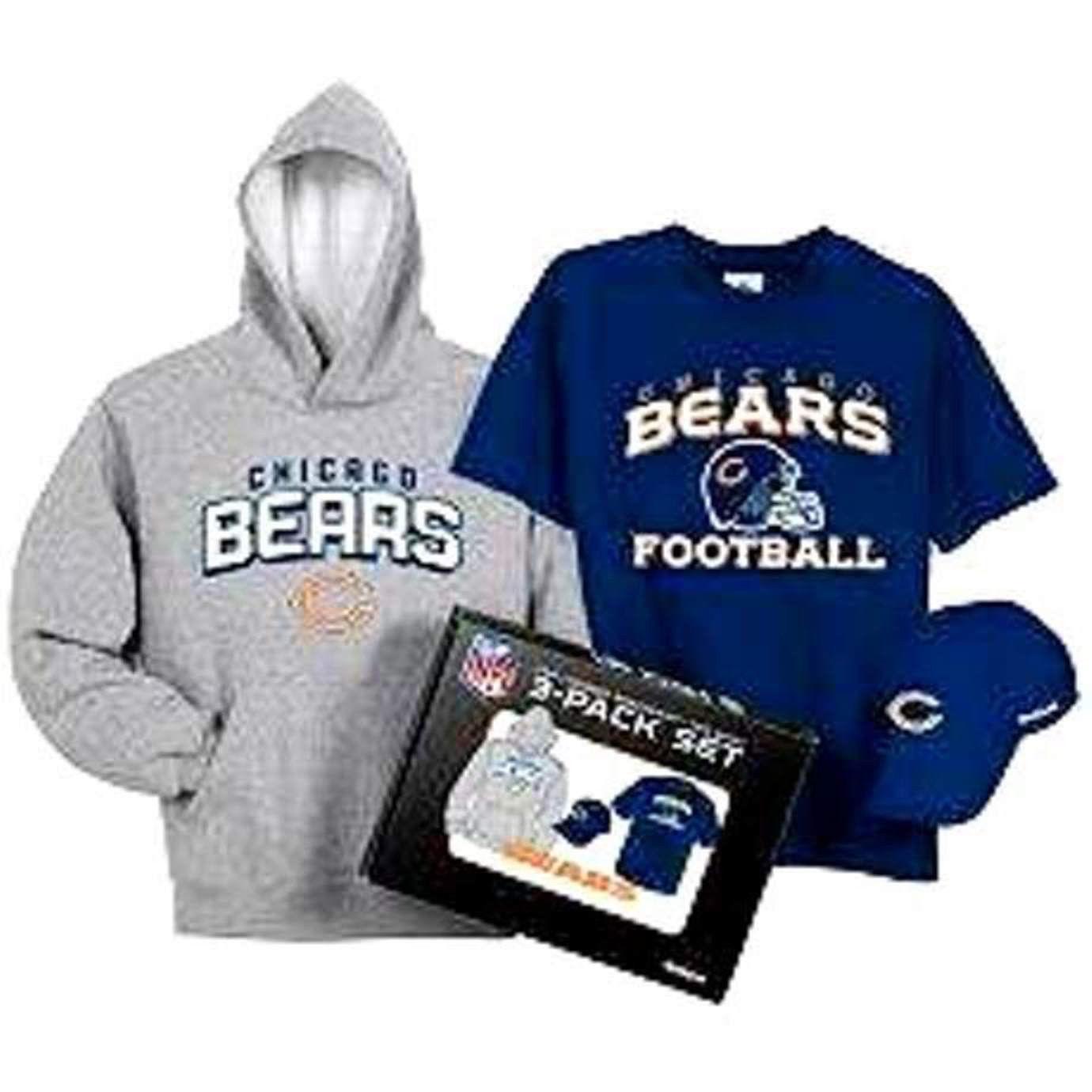 BOYS OR GIRLS 10 / 12 - Reebok - NFL Chicago Bears HOODY, HAT & T-SHIRT GIFT SET