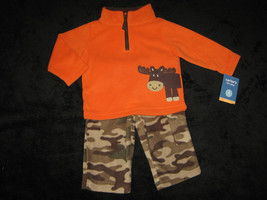 BOYS 6  MONTHS - Carter's - Moose & Camouflage FLEECE PLAYSET - $16.00