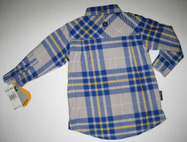 BOYS 2T - Akademiks Gray & Blue, Adjustable Sleeves, BUTTON-DOWN  SHIRT image 7