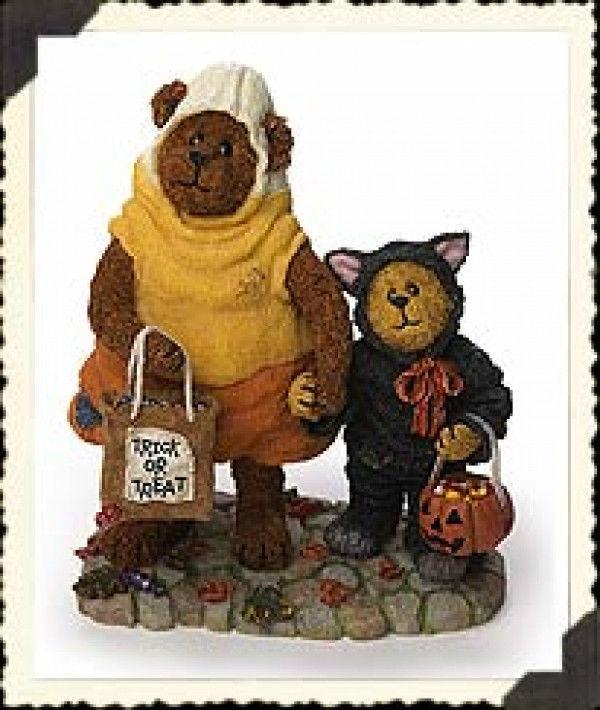 "Boyds Bearstone ""Candy B Corn w/Scaredy Bear..Trick or Treat""  #228408- 2003 - $22.99"