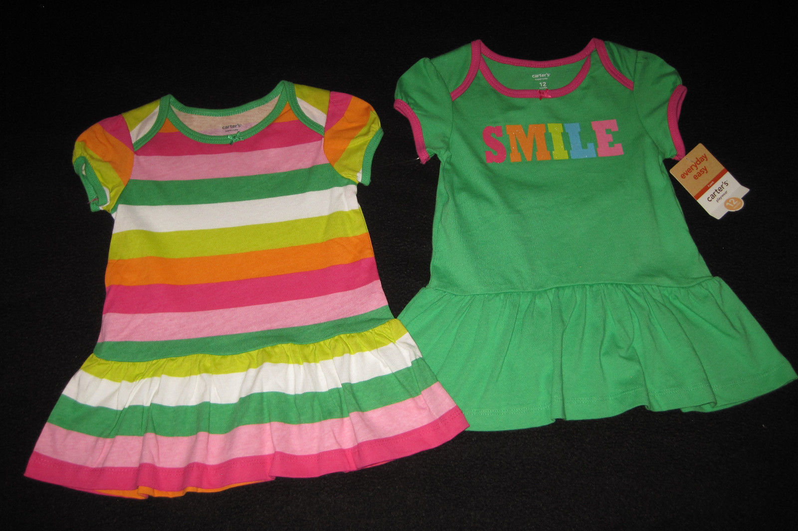 GIRLS 12 MONTHS - Carter's Everyday - Knit 3-PIECE DRESS & PANTY SET