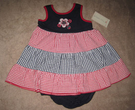 GIRLS 6-9 MONTHS - Sophie Rose - Red White &  Blue DRESS & MATCHING PANT... - $10.89