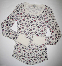 GIRLS 7/8 or 10/12 - Lei - Pullover Purple, Red and Cream Calico Print  ... - $7.92