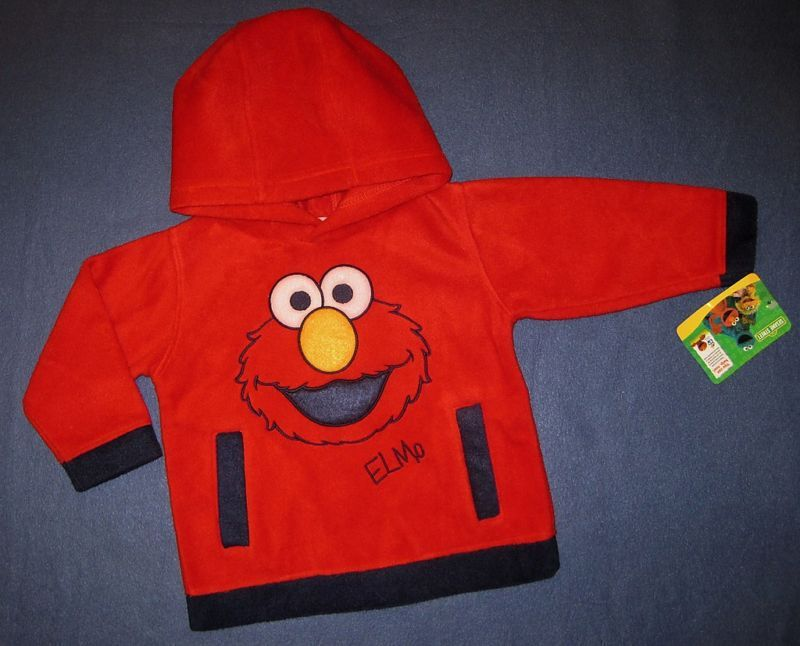 INFANTS 12  MONTHS - Sesame Street -  Elmo FLEECE HOODED TOP