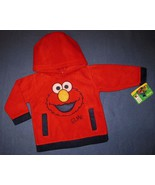 INFANTS 12  MONTHS - Sesame Street -  Elmo FLEECE HOODED TOP - $10.89