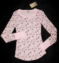 GIRLS 7 / 8 - Lei - L.e.i. Pullover Pink Calico Print  KNIT TOP - $7.92