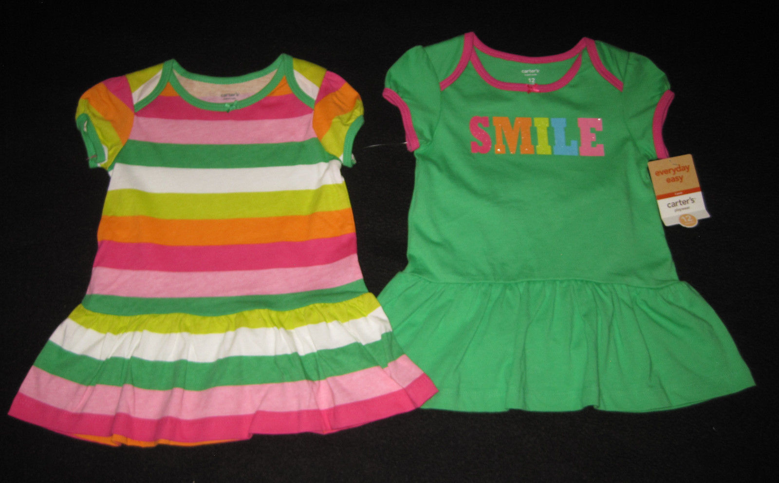 GIRLS 12 MONTHS - Carter's Everyday - Knit 3-PIECE DRESS & PANTY SET image 5