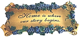 """Home is Where Our Story"" Decorative Wall Art Plaque Home Decor - $29.00"