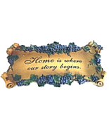 """""""Home is Where Our Story"""" Decorative Wall Art Plaque Home Decor - $29.00"""