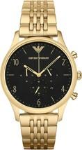 Emporio Armani AR1893 Mens Beta Gold Watch Stainless Steel Chrono Watch - $114.00