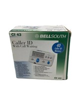Bellsouth Caller ID With Call Waiting CI 43 - NEW White 90 Caller ID Memory - $24.74