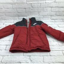 Nike Sportswear WindBreaker WindRunner Red Black Lined Boys 8 Jacket - $41.06